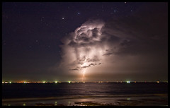 lighting in the sky (paranoidandreas) Tags: lighting sea sky storm nature water night perfect great vietnam unreal moment sturm newvision peregrino27newvision