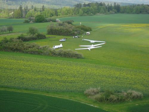 Landeanflug auf den Segelflugplatz Haiterbach-Nagold
