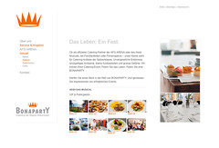 Bonaparty Catering (milosradovic) Tags: layout web internet minimal webdesign clean webpage homepage minimalistic catering bonaparty