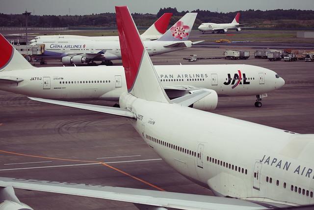 混雑気味の空港