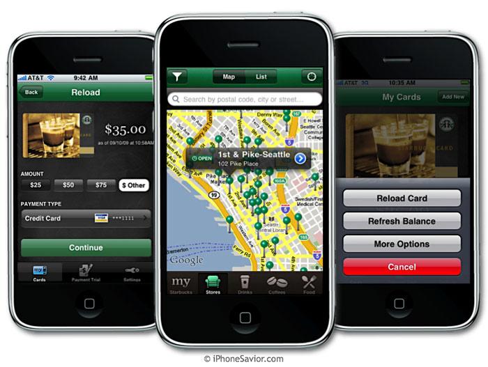 Starbucks Apps for iPhone