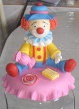 pote bala palhaço (lollyart) Tags: eva biscuit infantil casamento enfeites festas maternidade lembrancinhas