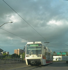 The western end of an eastbound Clackamas train