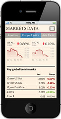 FT Web App on iPhone: Markets Data