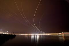 Boston Harbor (gadget00) Tags: night timelapse logan bostonharbor tokina1116mmf28