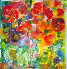 Art: watercolour: ...rouge passion... (Nadia Minic) Tags: flowers red summer rot art love nature floral fleurs watercolor rouge photo interestingness europe flickr artist gallery foto sommer kunst aquarelle kultur natur culture blumen galerie exhibition exposition amour passion watercolour vase bouquet luxembourg artcontemporain farbig oeuvre couleur liebe interessantes color atelier posie acuarelas aquarell beauxarts harmonie colourfull acquarello lenningen blumenstrauss symbolisme leidenschaft wasserfarben athmosphre pittrice artistepeintre aquarelliste watercolourpainter nadiaminic aquarellistin aquarellmalerin