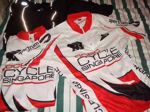 Limited-edition OCBC Cycle Singapore 2009 jersey