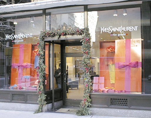 Holiday Design by Eric Steding and Jacques Rosas Stylists on Madision Avenue New York