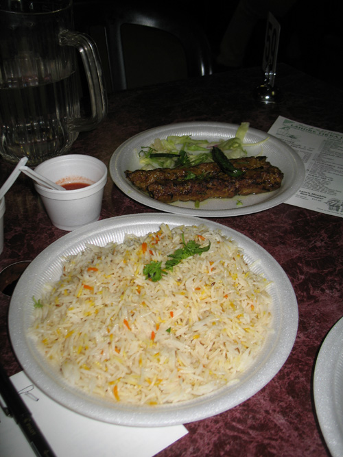 Lahore Tikka House (1) - Plain Rice and Lahori Lamb Kabab