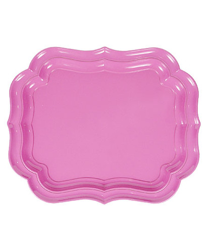 pink melamine tray