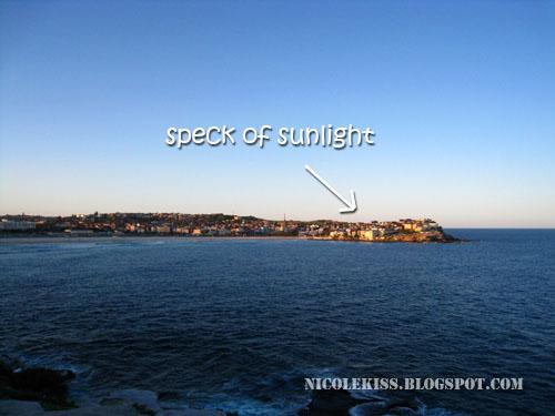 speck of sunlight
