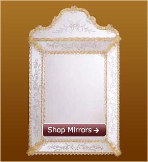 """""""Venetian glass mirrors"""""""