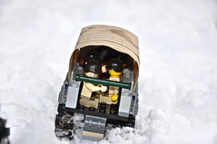 Inside the CCKW (The Ranger of Awesomeness) Tags: winter snow lego jeep wwii 1944 roa brickarms cckw
