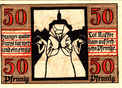 Naumburg, 50 pf, 1921 (Iliazd) Tags: germany inflation notgeld papermoney germancurrency emergencymoney 1911922 germanpapermoney