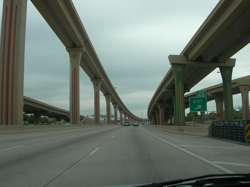 The Central Expressway in north Dallas (Richardson, Texas)