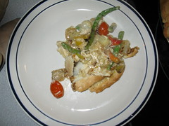 """Too busy for a pie contest"" chicken pot pie served"