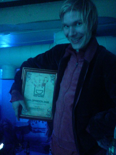 Magnus sez: Yes, it be I who won this here prize.