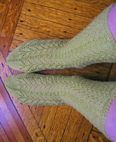 Green Lace Socks 6