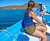 Jeanne, Isla Coronados near Loreto, Mexico Jeanne looking at