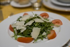 Arugula, tomato, mozzarella salad