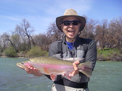 Bob lands a Trophy 'bow & enters ShastaTrout Hawg of Fame