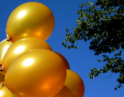 21 March : yellow balloons