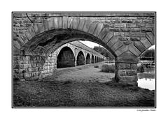 Underneath the Arches - Trent Bridge, Burton upon Trent, Staffordshire (Jonathan Fletcher Photography) Tags: camera travel england holiday art monochrome canon river photography blackwhite nikon flickr trent staffordshire scenes scenics burton midlands burtonupontrent nikon1755 nikond300 scenicsnotjustlandscapes notjustlandscapes eaststaffordshire jonathanfletcher