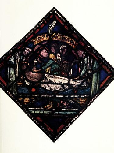 004- El entierro- Vitral este de Canterbury pirncipios del siglo XIII