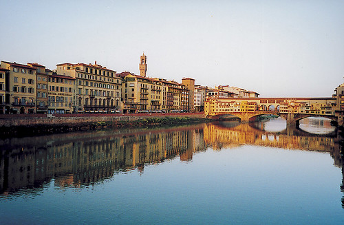 Arno river and the Ponte Vecchio