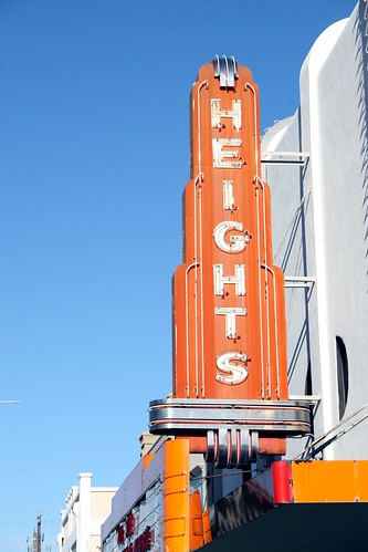 heights theater neon sign