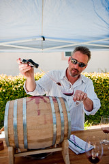 Steven Mirassou pours from the barrel (star5112) Tags: red food white kent vines estate wine drink cab barrel winery event vineyards valley grapes thief steven tasting merlot livermore pour vino pinotnoir wineries futures tastingroom pourers stevenkentmirassou