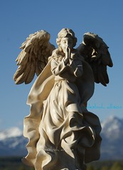 ~ April Angel ~ (^i^heavensdarkangel2) Tags: blue shadow sky white mountains art sunshine statue angel colorado collection angels heavens heavenly pagosasprings angelstatue heavensdarkangel sonydslra200 angelicone heavenscollection desbahallison heavensdarkangel2 heavensstatue