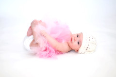 Tutu Baby (snapcheesy) Tags: family pink light baby color cute girl smiling kids austin studio mom photography twins infant dad texas photographer child natural candid lifestyle naturallight indoor whitebackground newborn triplets pflugerville audreywood naomiworley razzledazzlephotos pitterpatterphotos