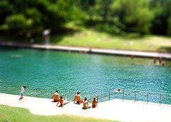 Barton Springs, Austin / tilt shift (patrick.swinnea) Tags: summer pool swimming austin miniature model texas fake tiny bartonsprings tiltshift tiltshift12 tiltshiftmakercom