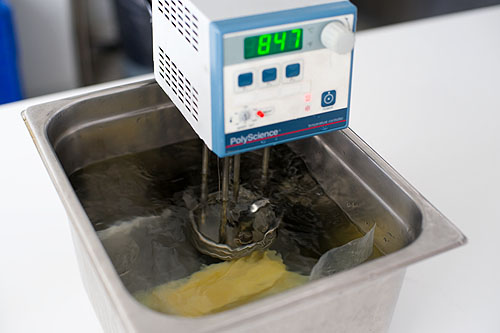 Cooking potato confit sous-vide