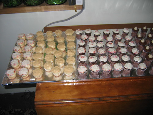 phalanx of mini-cupcakes