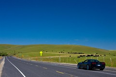 Enjoying the Open Road! (Cliff Stone) Tags: california bluesky corvette c6 wideopenspaces canonefs1785is canoneos40d roadribbons
