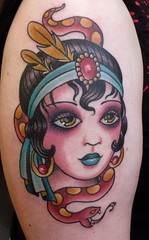 snake lady (ryanmason) Tags: girl tattoo lady portland vegan ryan head snake mason tattoos flapper scapegoat ryanmason