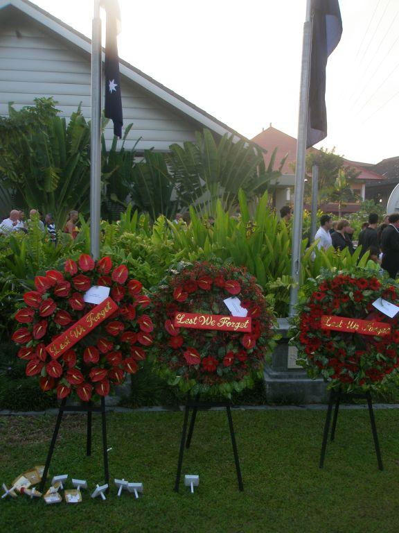 ANZAC Dawn Service Bali Wreaths