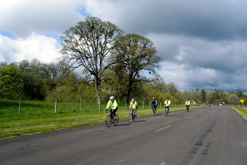 Outbound Cyclists