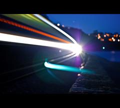~ Night Train To Teignmouth ~ (from Dawlish) (©Komatoes) Tags: uk night train 22 nikon explore devon nightlight fp trainspotting firstgreatwestern teignmouth nighttrain lightsatnight d40 nikond40 247bokehlife likemyschoolreportusedtosaycoulddobetter nighttraintoteignmouth longexposuretrain teignmouthtrain trainonseafront trainatteignmouthseafront nighttrainatteignmouthseafront spottingtrains dawlishtoteignmouthtrain