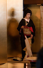 (yocca) Tags: woman female kyoto candle geiko  kimono teaceremony 2009  kamishichiken  kitanoodori  ichimame   apr2009