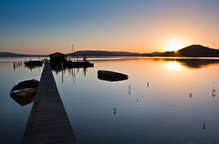 the early bird catches the light! (Julie Therr) Tags: sunrise boats jetty australia brisbanewater centralcoastnsw
