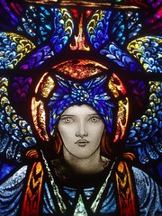 Angelic Beauty (Aidan McRae Thomson) Tags: church window stainedglass warwickshire ansley artscrafts karlparsons