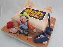 Bob the builder cake (Crazy Cake - Cakedesigner57) Tags: party building cake cat sand bricks cement decoration tools sugar birthdaycake bobthebuilder wheelbarrow