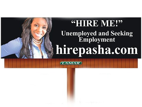 Billboard to get a job