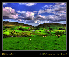 Sleepy Valley (Irishphotographer) Tags: ireland art nature sheep hdr hillwalking irishart irishamerican kinkade artinnature inthecountry beautifulireland irishholiday sleepyvalley imagesofireland travelireland irishmountains kimshatwell irishphotographer hillwalkinginireland breathtakingphotosofnature barnesgapireland beautifulirelandcalander wwwdoublevisionimageswebscom