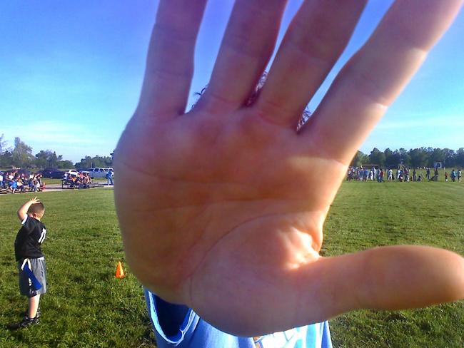 caelan's hand