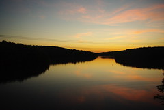 This is my home (michelle o'dell) Tags: pink sunset sky reflection water beautiful beauty night clouds sunrise reflections fire pentax pinkclouds yellowsunset highlines k200d