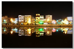 --  Canal reflection of night (Ming - chun ( very busy )) Tags: light water night river nikon nightshot d70 taiwan  reflexions   soe    supershot     abigfave   platinumheartaward rubyphotographer
